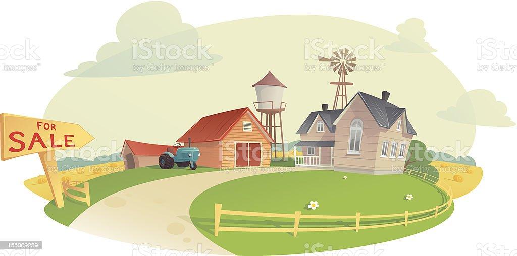 Sell the Farm royalty-free stock vector art