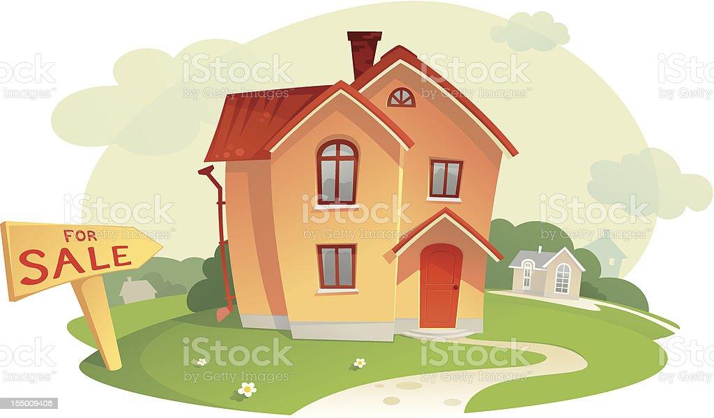 Sell the House vector art illustration