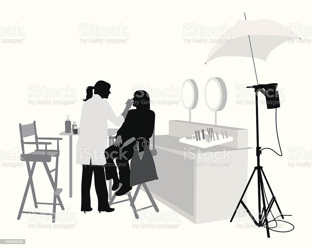 Selling Makeup Vector Silhouette vector art illustration