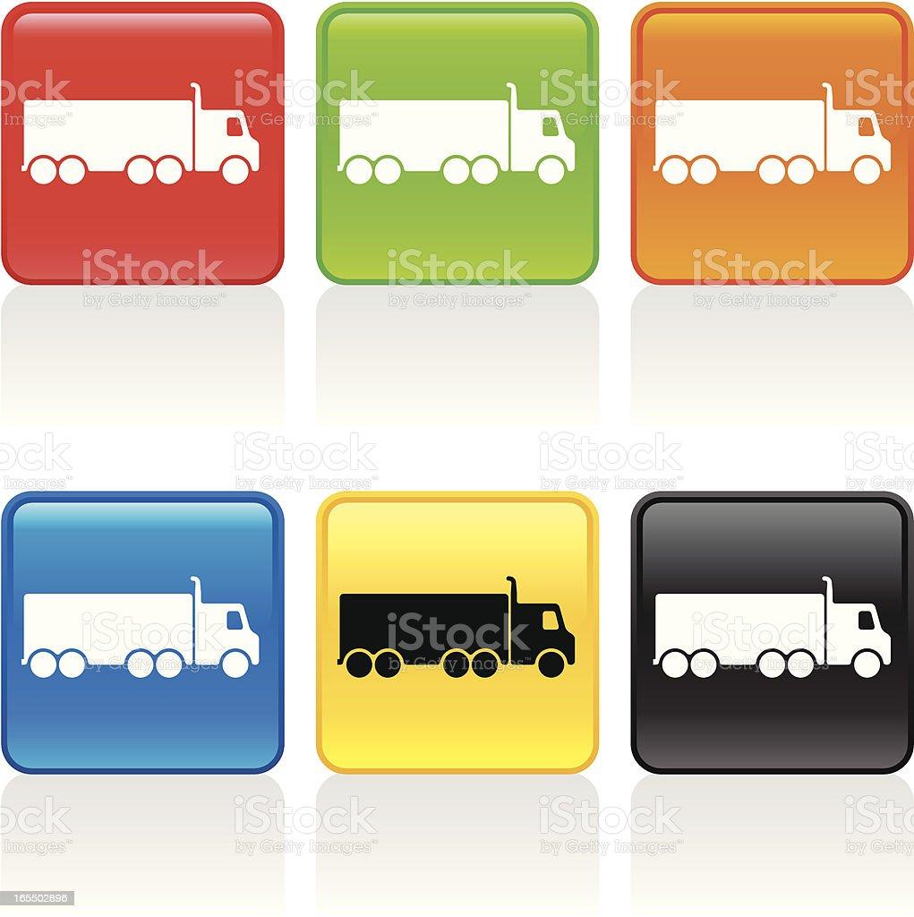 Semi Truck Icon royalty-free stock vector art