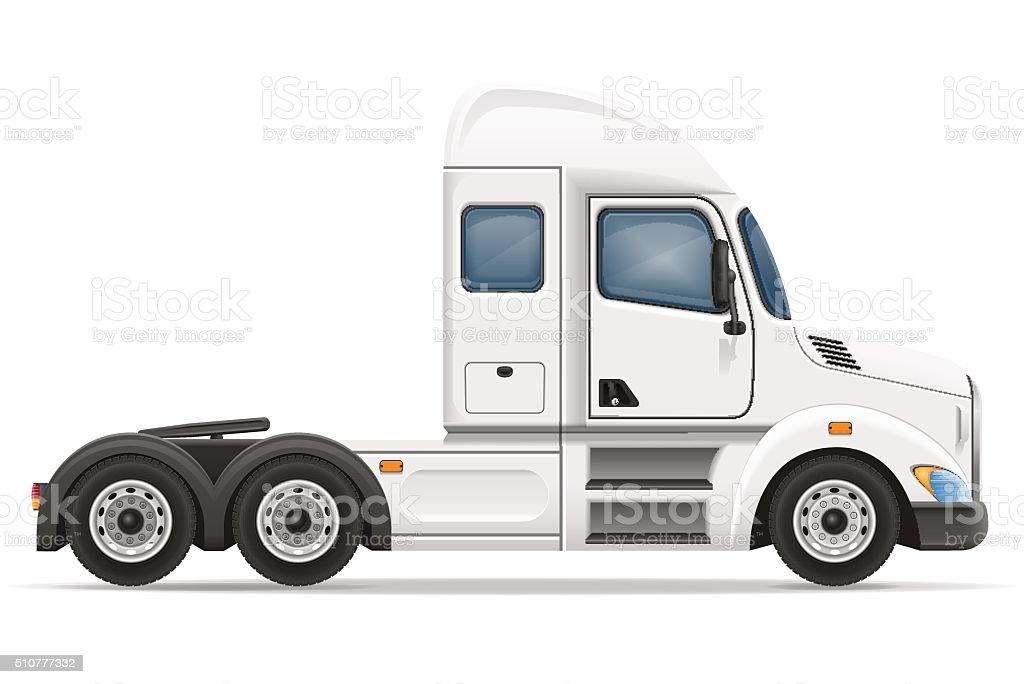 semi truck trailer vector illustration vector art illustration