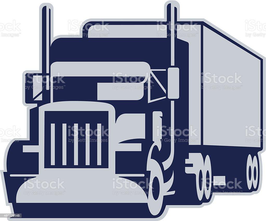 Semi Truck vector art illustration