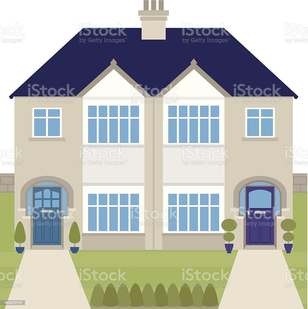Semi Detached House semi detached house clip art, vector images & illustrations - istock