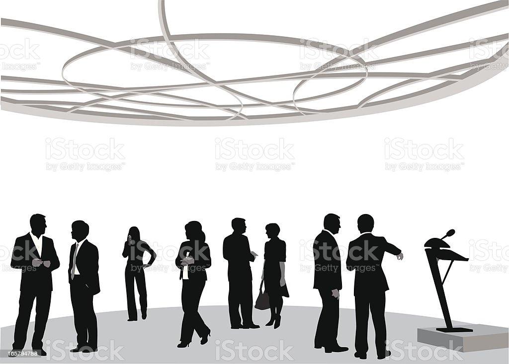 Seminar Vector Silhouette royalty-free stock vector art