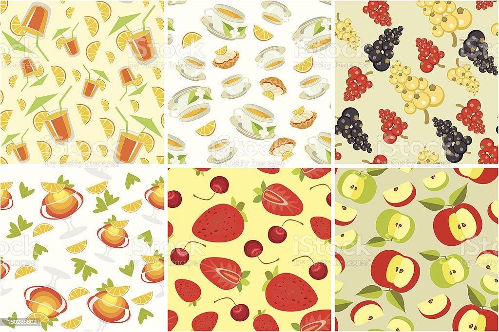 semless background with fruit royalty-free stock vector art
