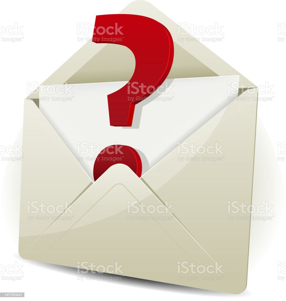 Send In Request By Email royalty-free stock vector art