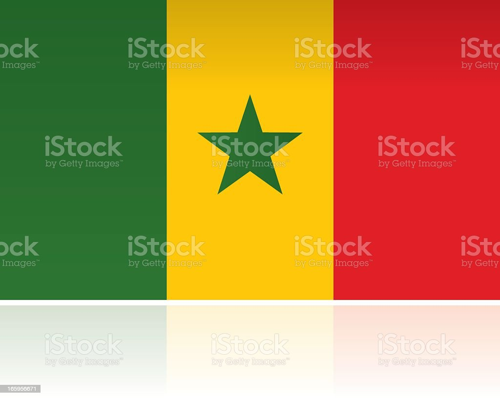 Senegal Country Flag, Western Africa royalty-free stock vector art