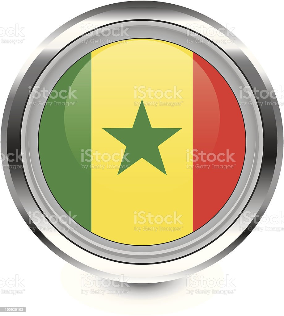 Senegal flag icon royalty-free stock vector art