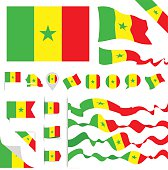 Senegal Flag Set