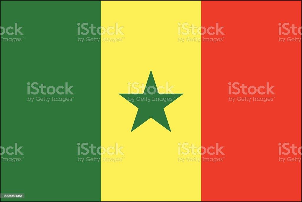 Senegal flag vector art illustration