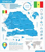 Senegal - infographic map - Illustration