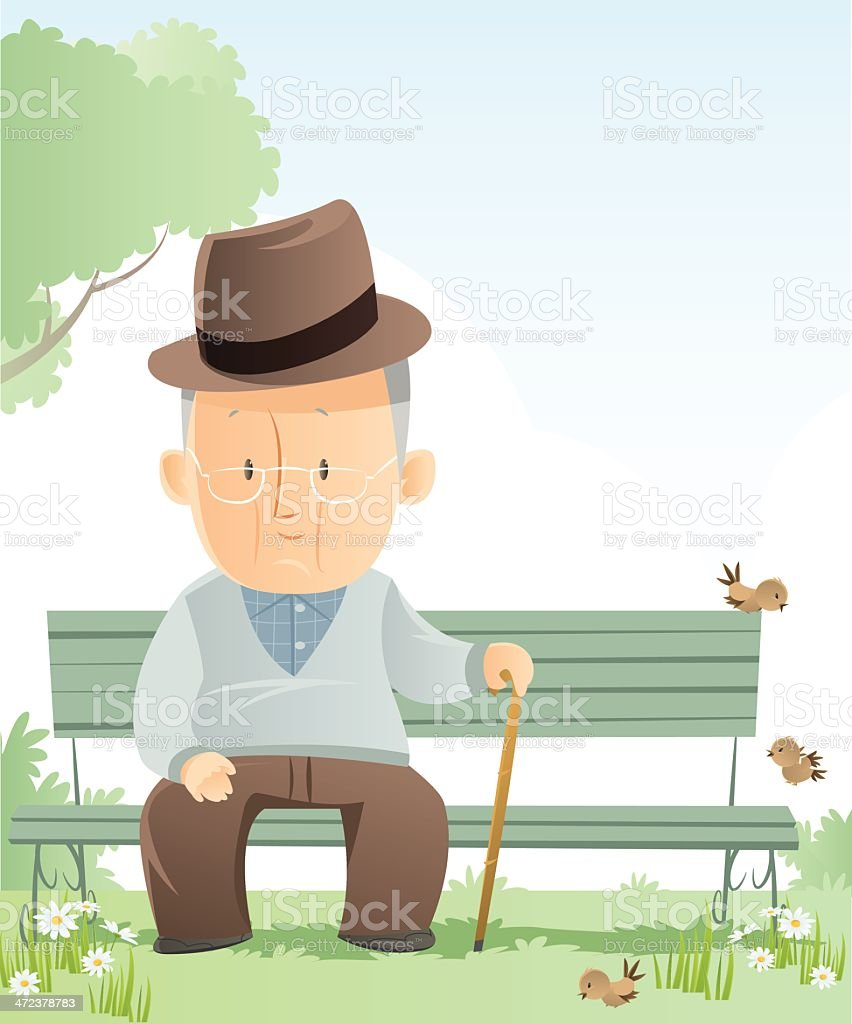 Senior Adult vector art illustration