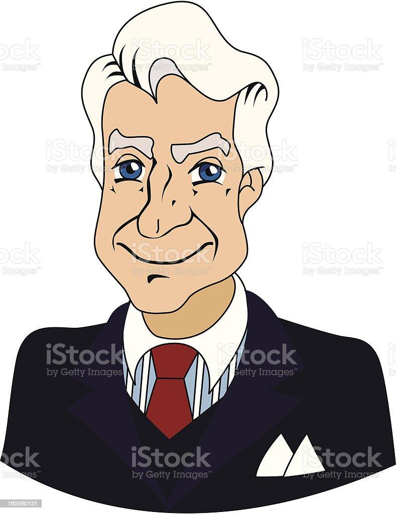 Senior businessman vector art illustration