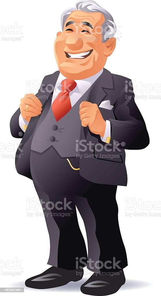 Senior Businessman royalty-free stock vector art