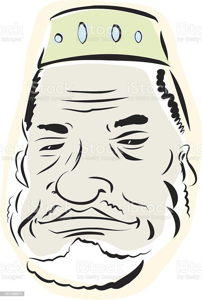 Senior Muslim Man royalty-free stock vector art