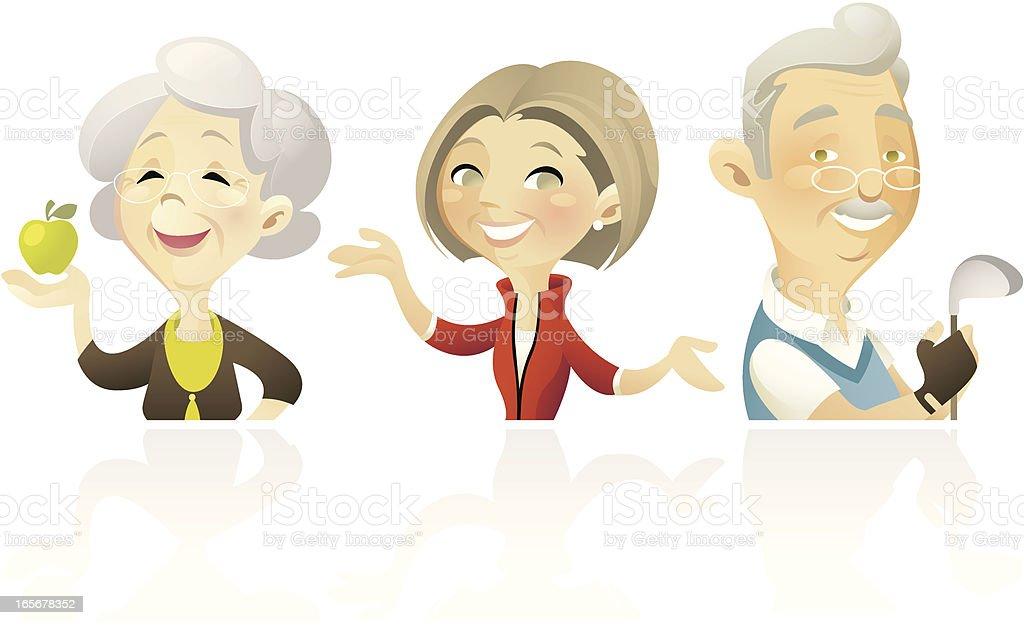 Senior's Fitness royalty-free stock vector art
