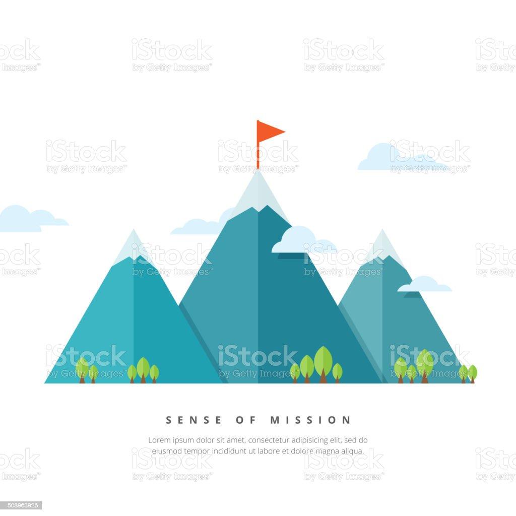 Sense of Mission vector art illustration