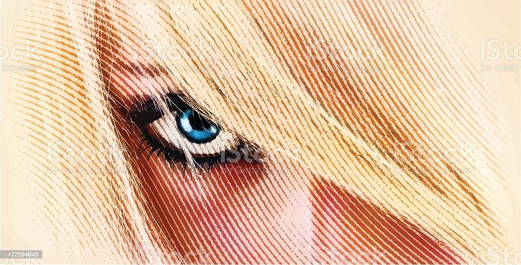 Sensuous Woman's Eye royalty-free stock vector art