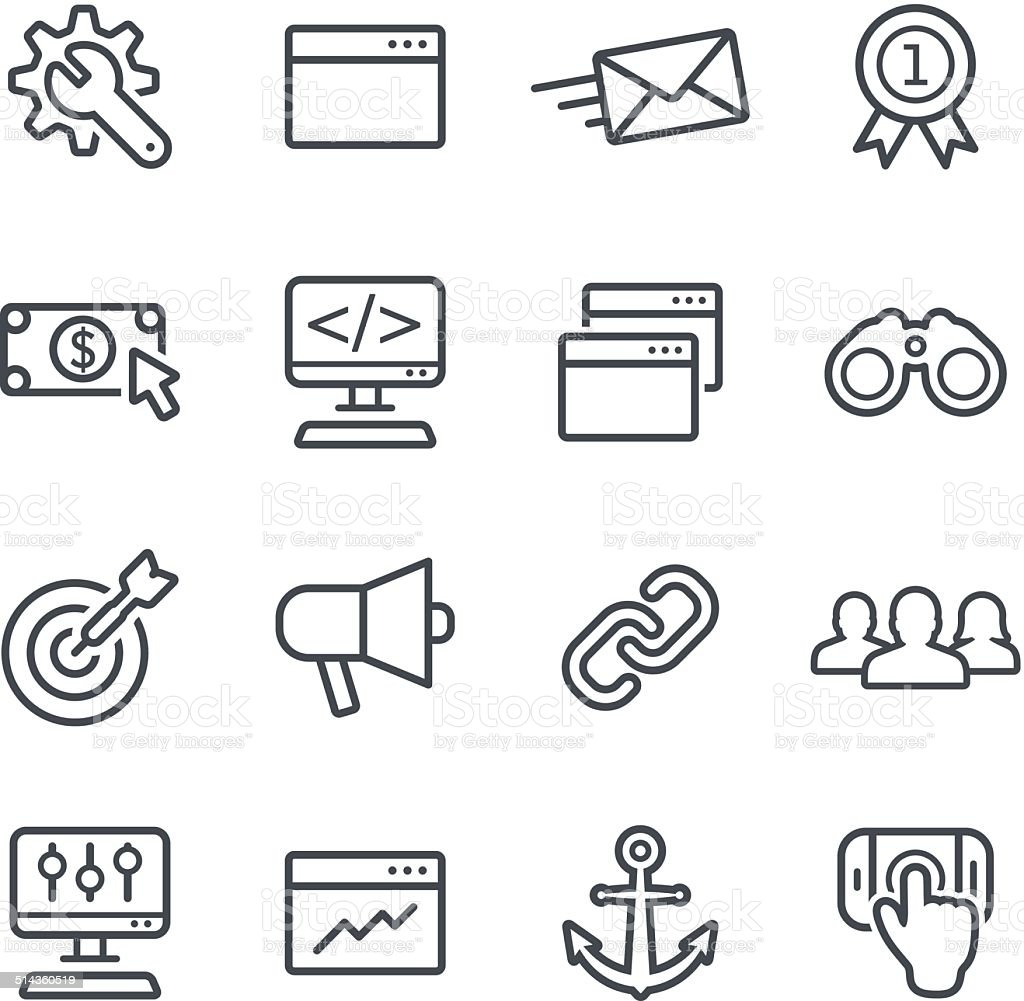 Seo Icons vector art illustration