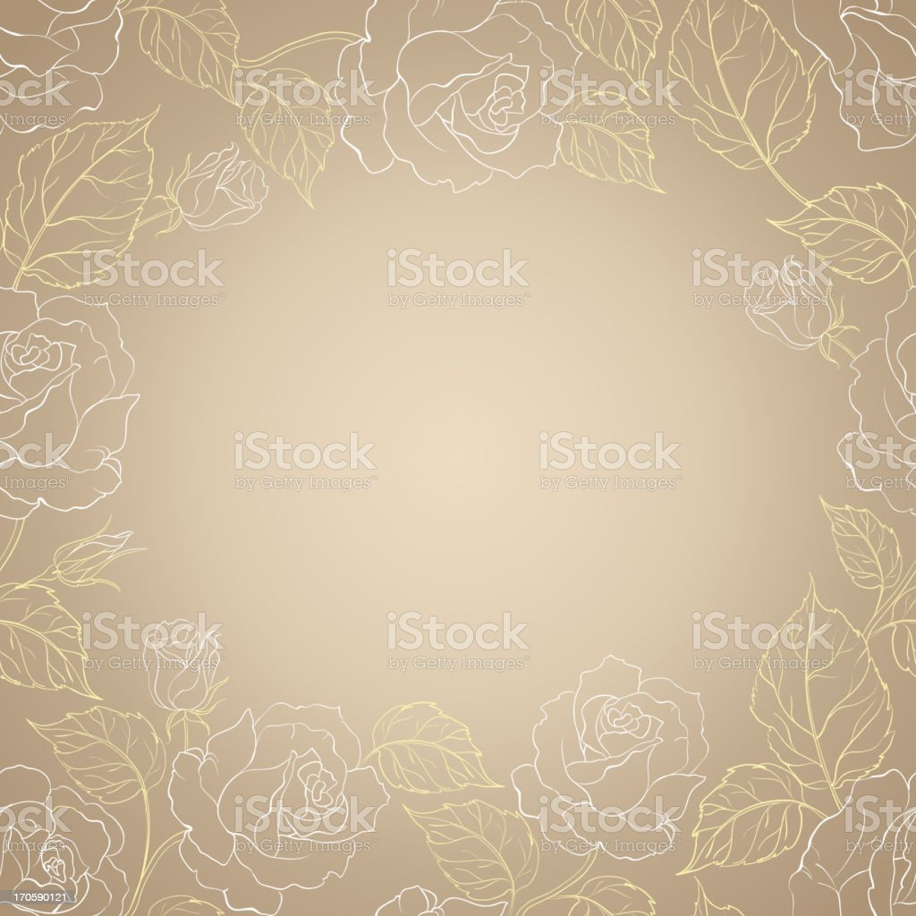 Sepia romantic frame royalty-free stock vector art