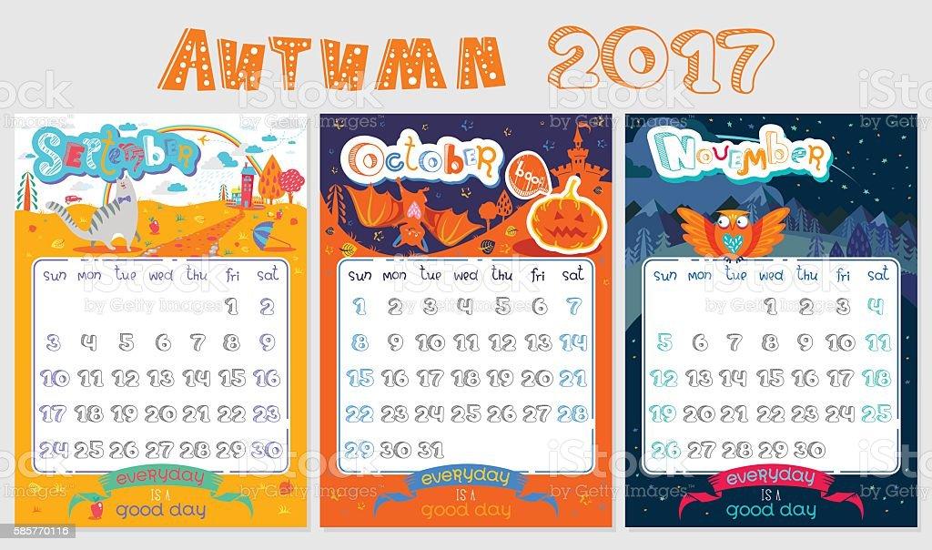 2017 Calendar October October November December