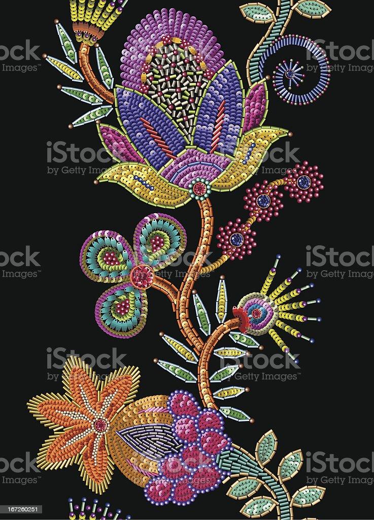Sequins vertical seamless pattern. vector art illustration