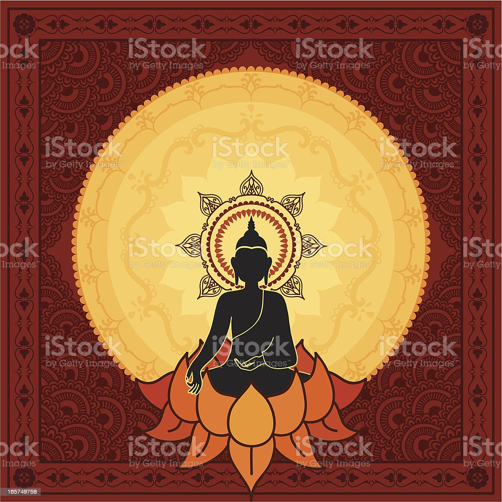 Serene Buddha royalty-free stock vector art
