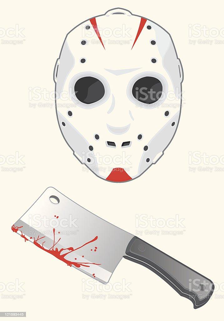 Serial Killer vector art illustration