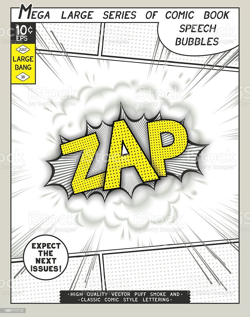 Series comics speech bubble vector art illustration