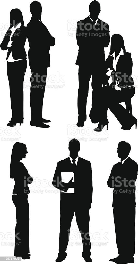 Serious business people royalty-free stock vector art