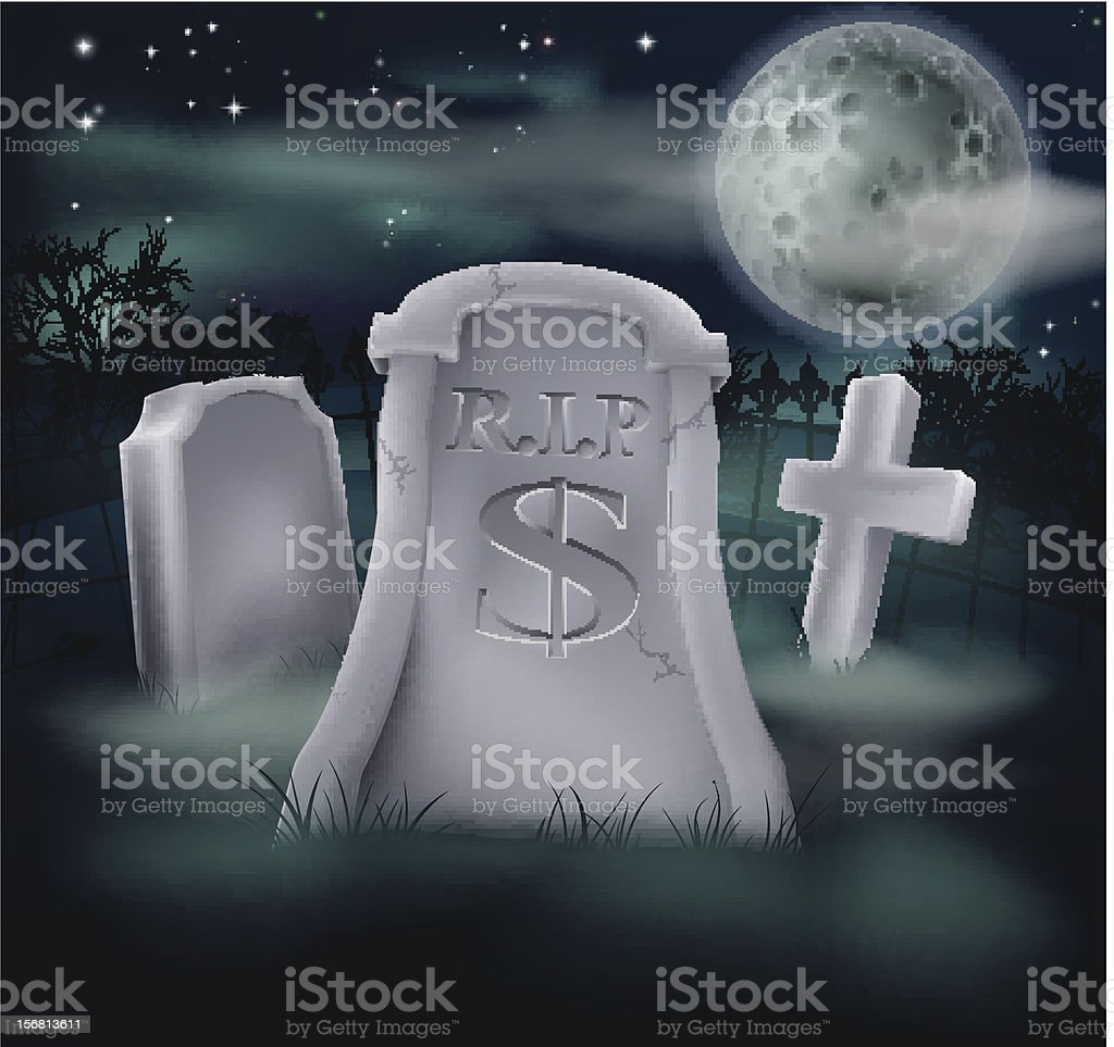 Dollar grave concept royalty-free stock vector art