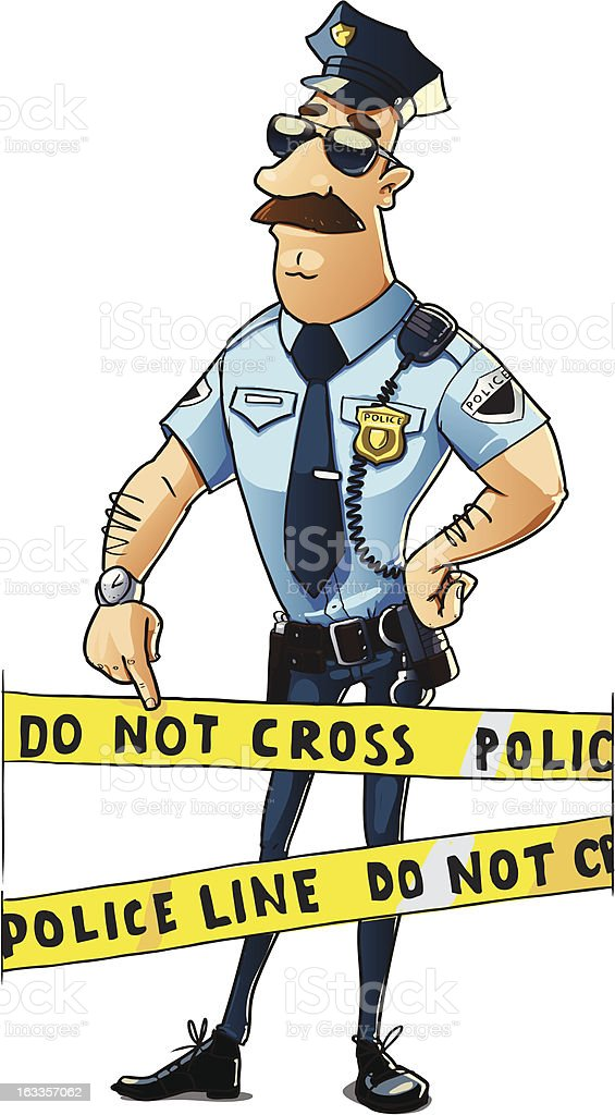 serious police officer royalty-free stock vector art