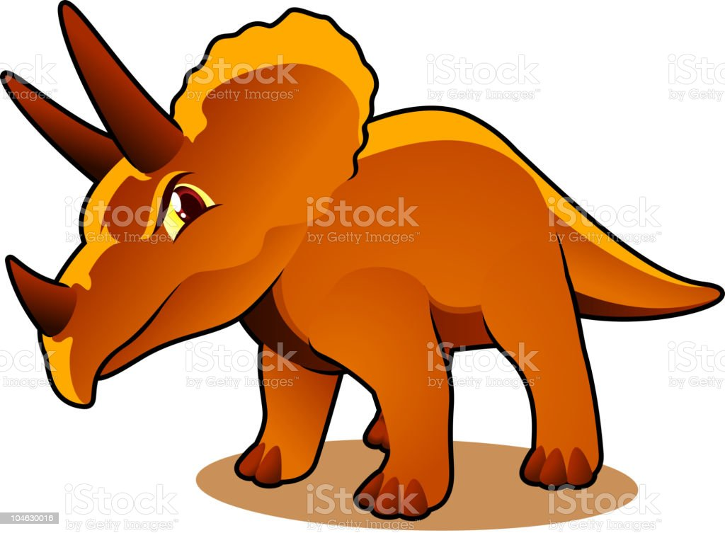 Serious triceratops royalty-free stock vector art