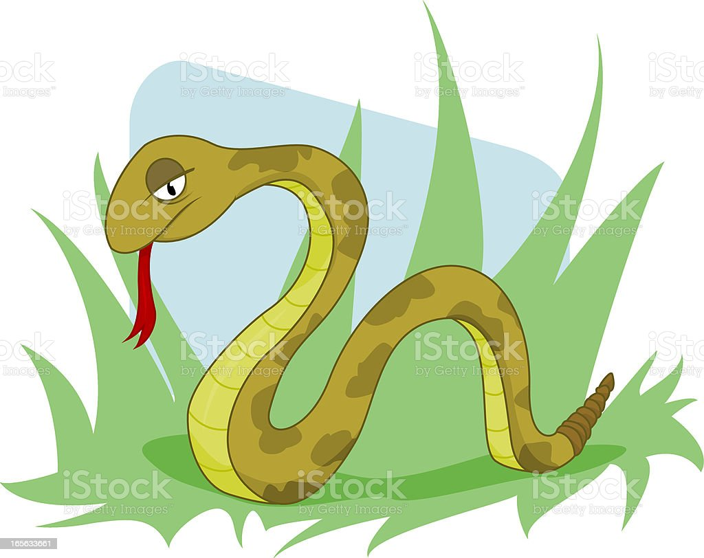 Serpent vector art illustration