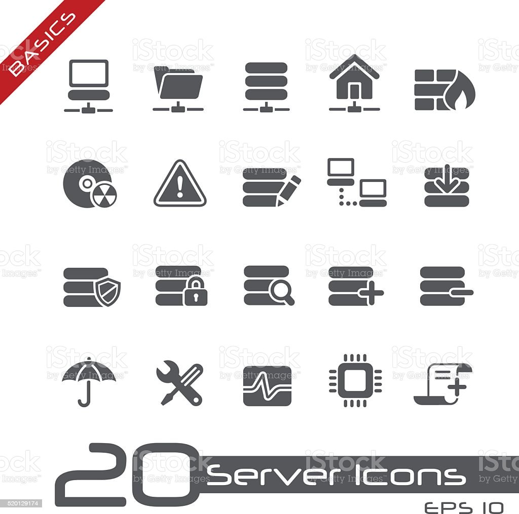 Server Icons // Basics vector art illustration