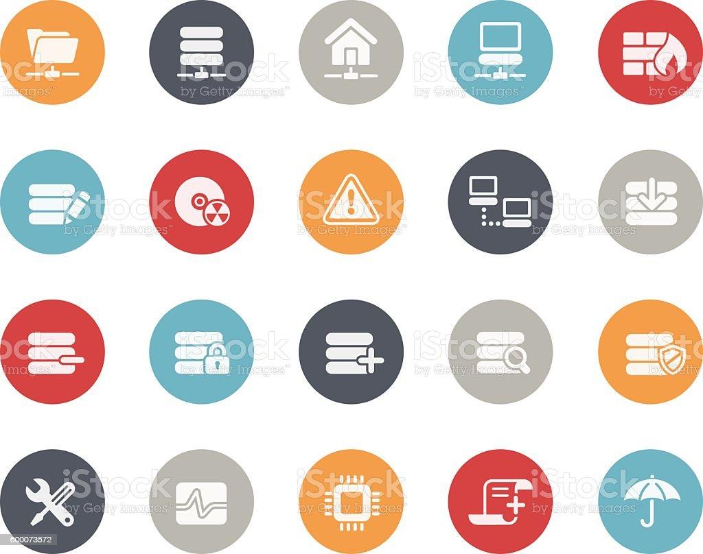 Server Icons // Classics vector art illustration