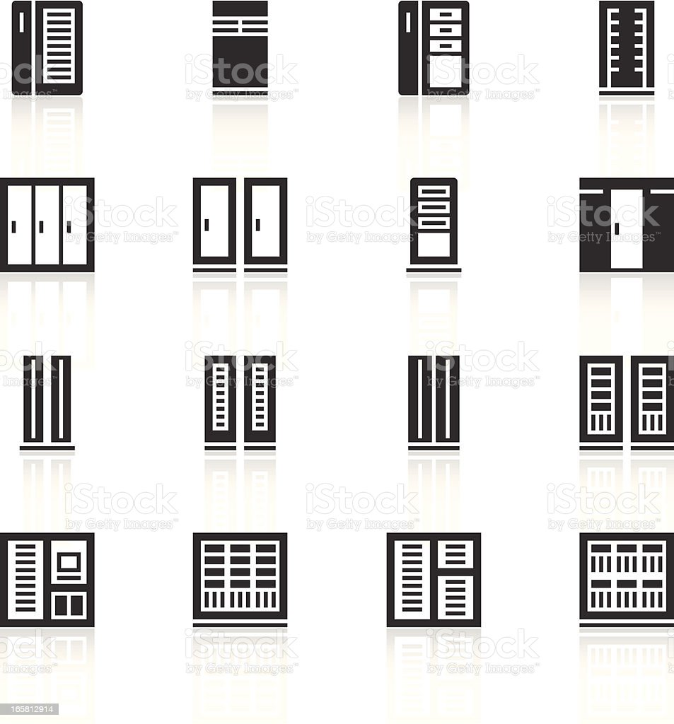 Server icons vector art illustration