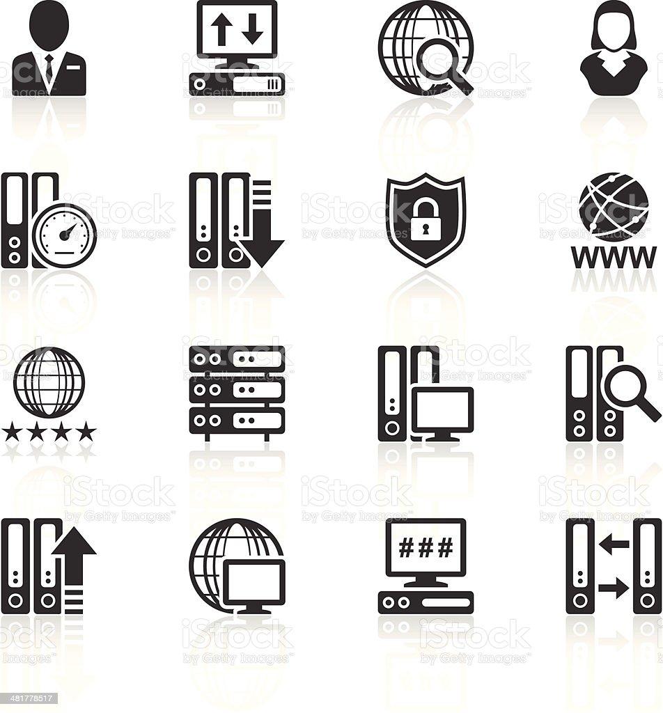Server icons vector art illustration
