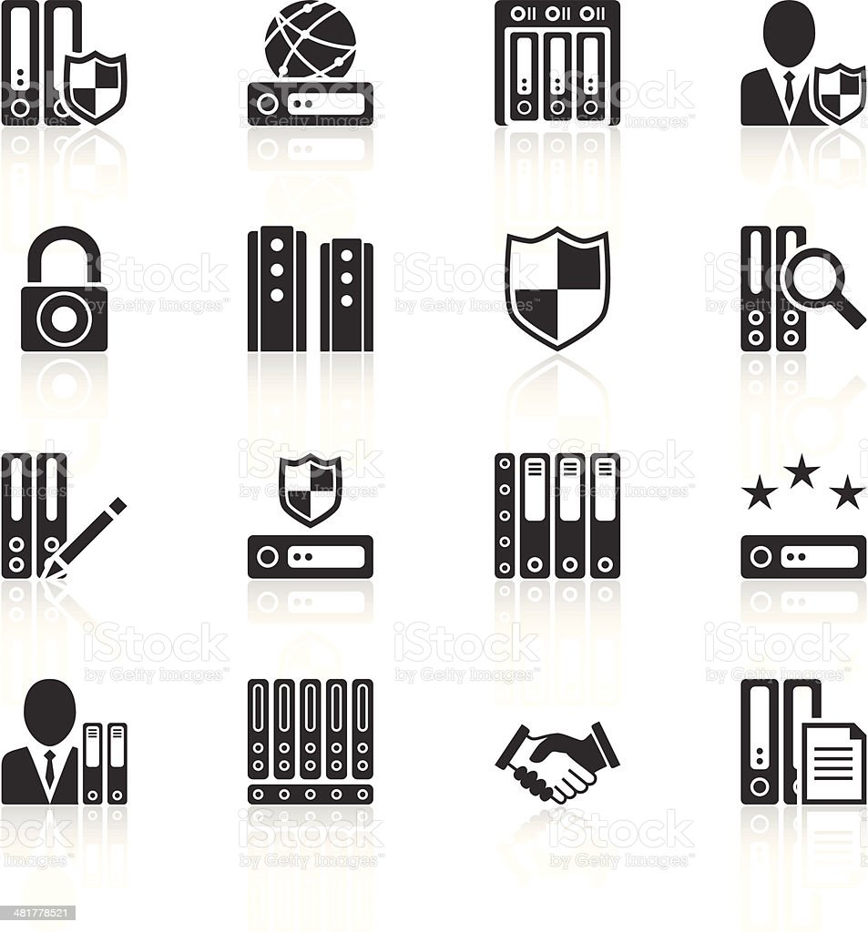 Server icons royalty-free stock vector art