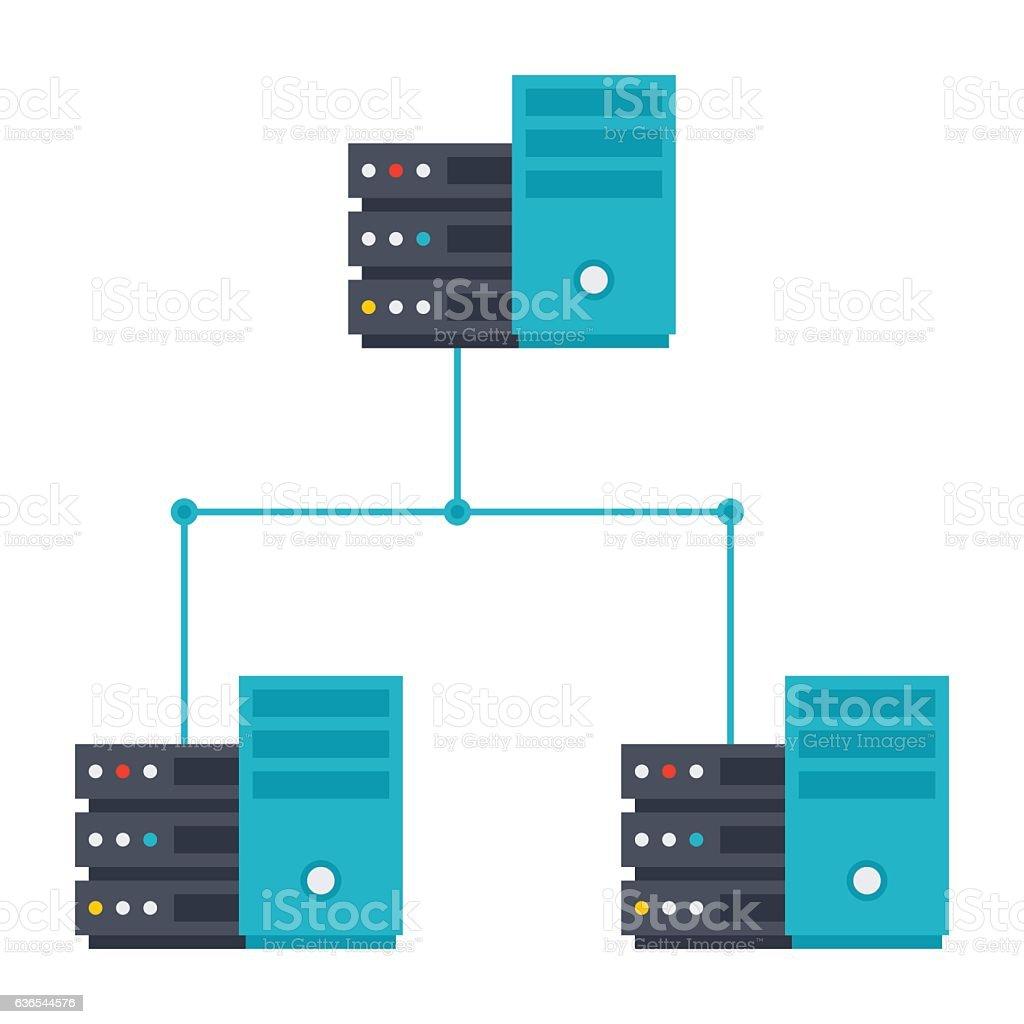 Server Network Icon vector art illustration