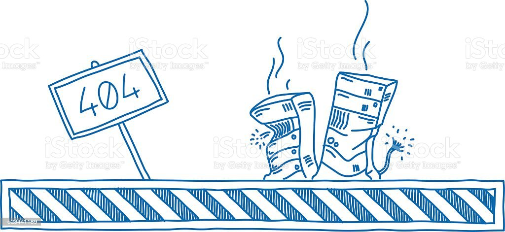 Server Problems vector art illustration