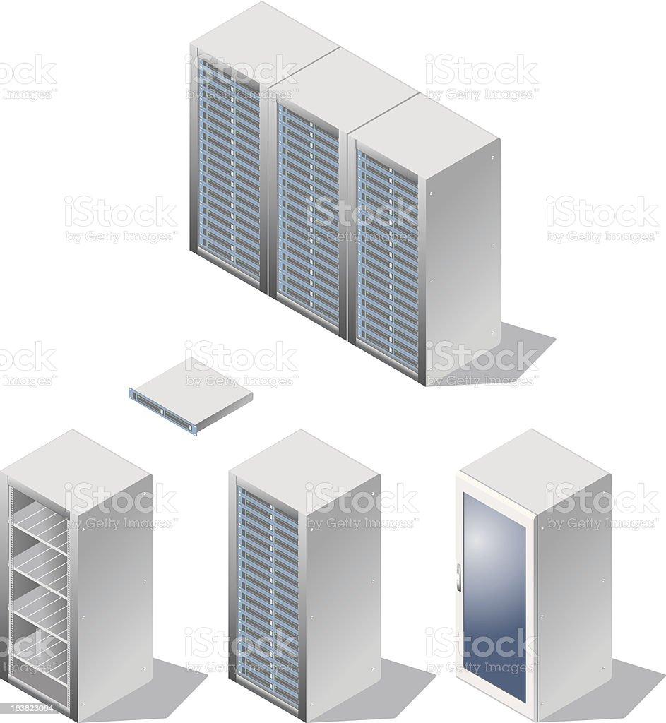 Server & Rack royalty-free stock vector art