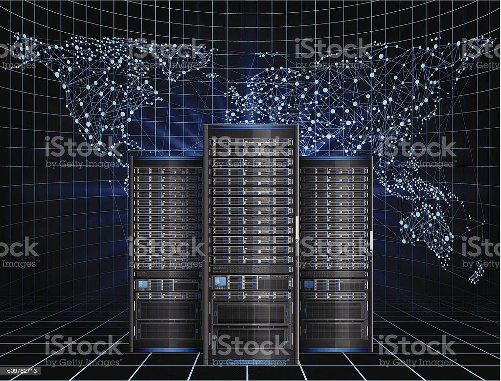 Server vector art illustration