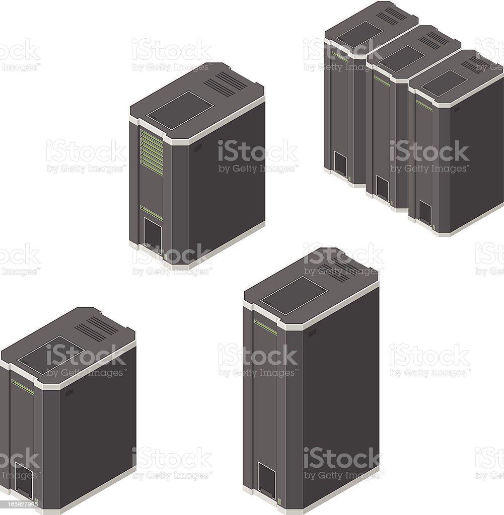 Servers vector art illustration