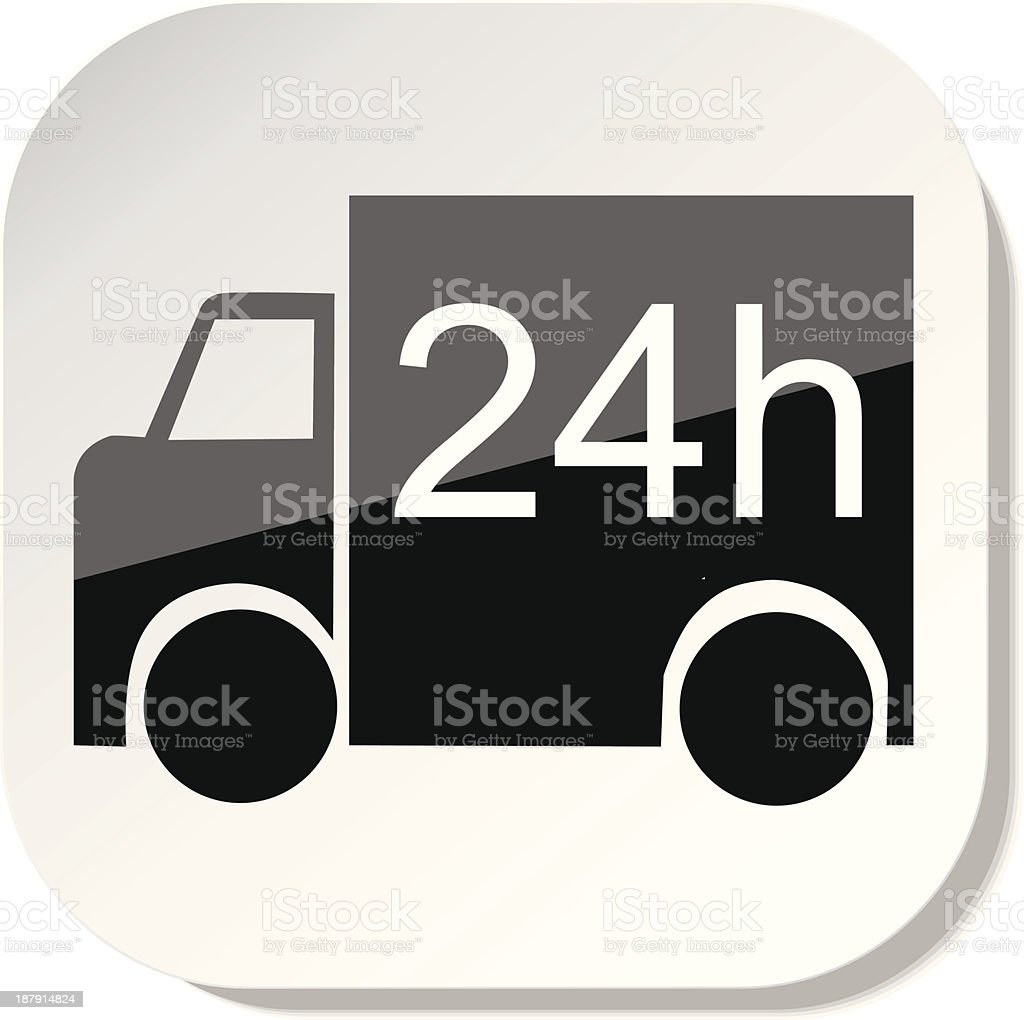 Service 24h royalty-free stock vector art