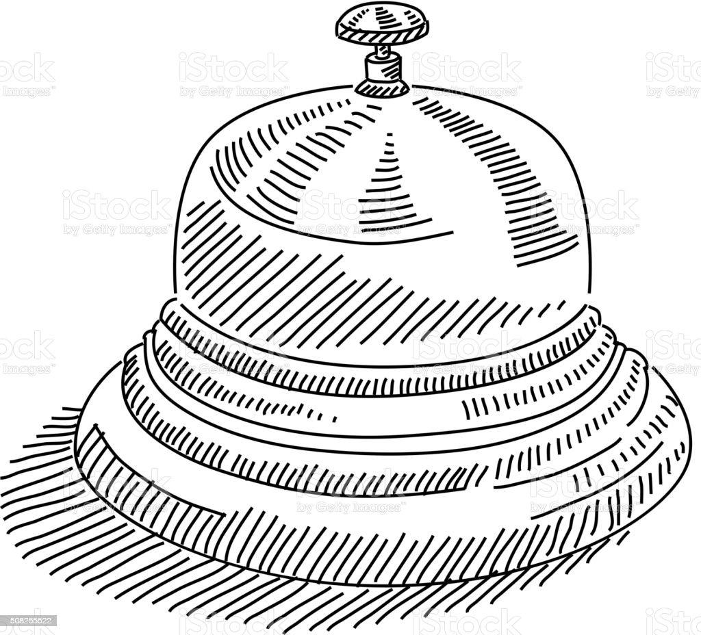 Service Bell Drawing vector art illustration