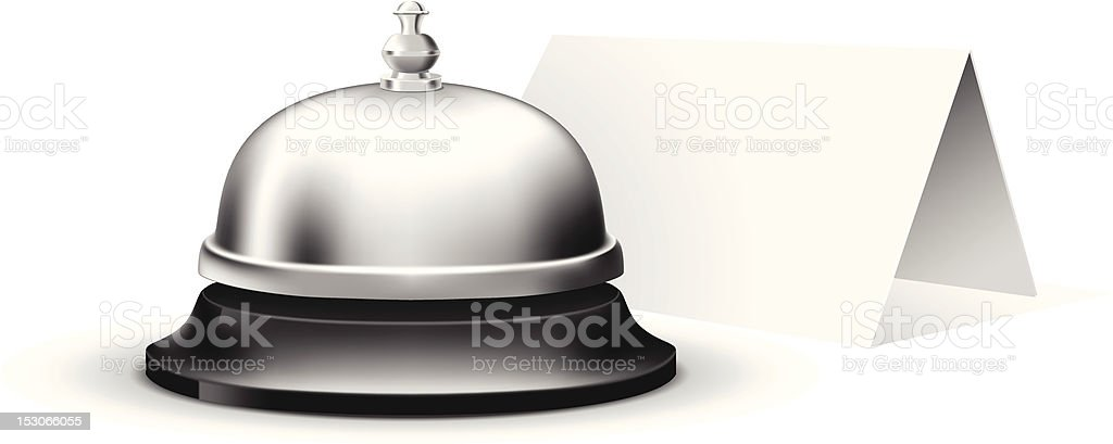 Service bell vector art illustration