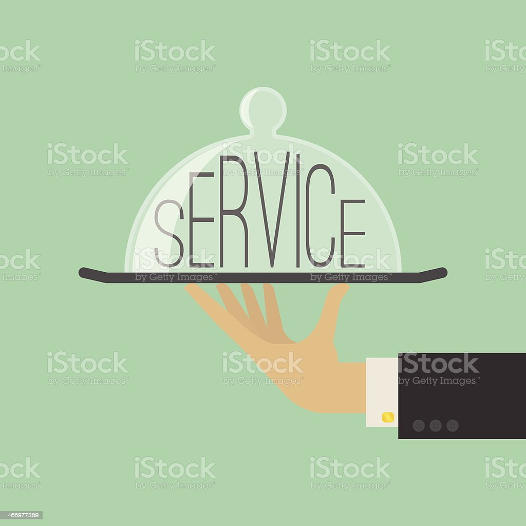 Service Concept. Flat Style. Vector Illustration vector art illustration