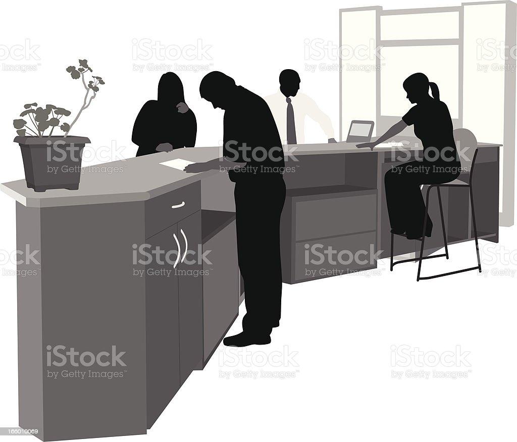 Service Desk Help royalty-free stock vector art