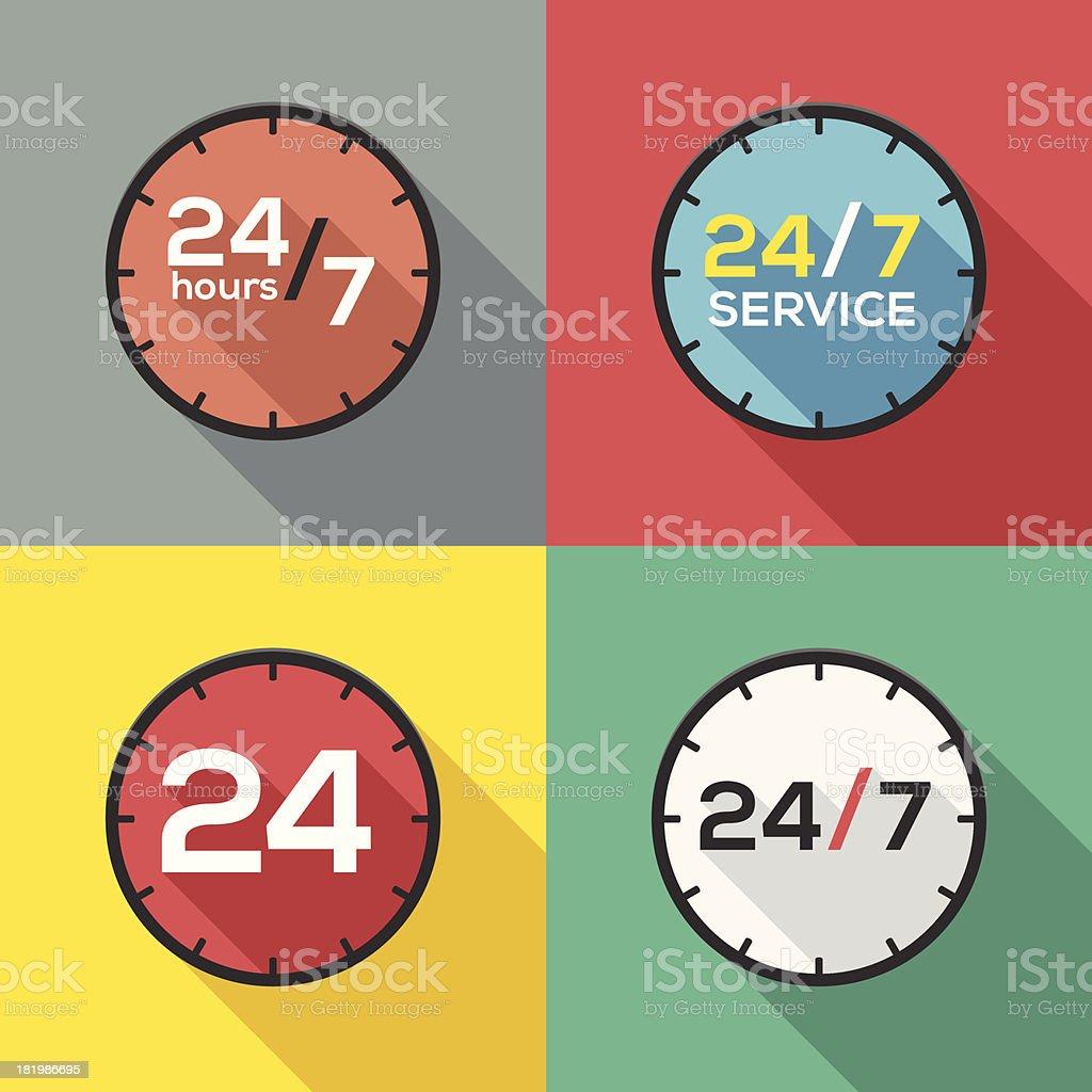 Service hours sign vector art illustration